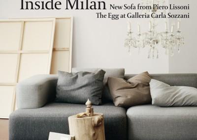 Fritz Hansen Republic magazine. Inside Milan cover