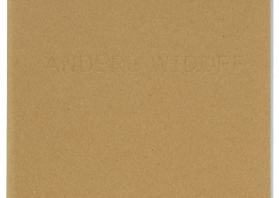 Galleri Charlotte Lund. Anders Widoff exhibition catalogue cover