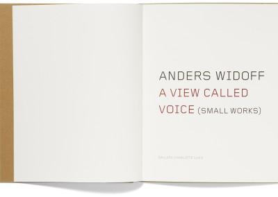 Galleri Charlotte Lund. Anders Widoff exhibition catalogue (1)