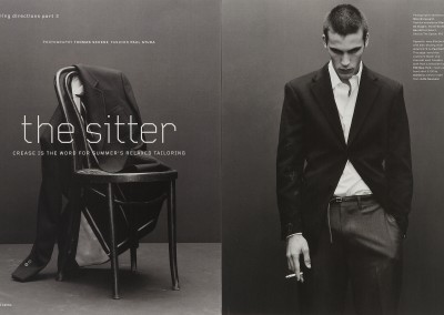 Arena magazine. The Sitter (1)