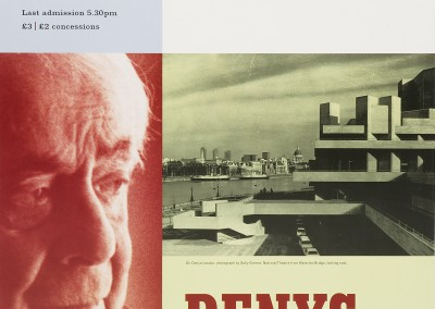 Royal Academy of Arts. Denys Lasdun exhibition poster