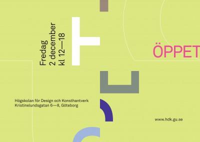 HDK. Open House poster