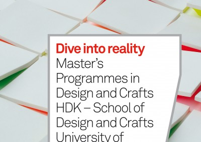 HDK. Master's Programmes catalogue cover