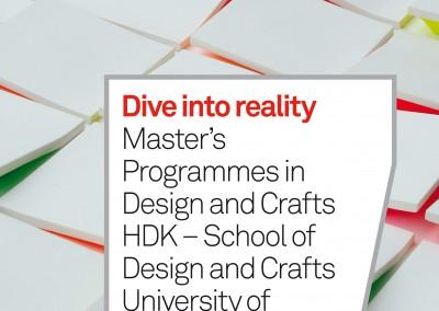 HDK. Master's Programmes catalogue cover