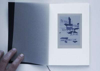 Petals, Metal. Water: Black. Artist's book (1)