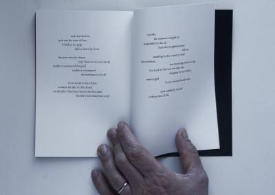 Petals, Metal. Water: Black. Artist's book (6)