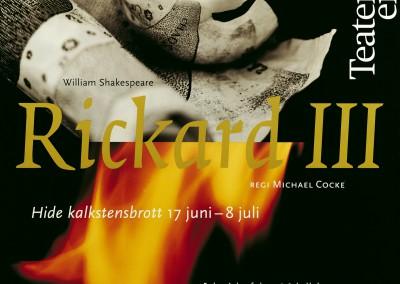 Teaterensemblen. Richard III theatre poster