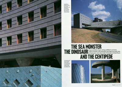Blueprint magazine. The Sea Monster, The Dinosaur and the Centipede