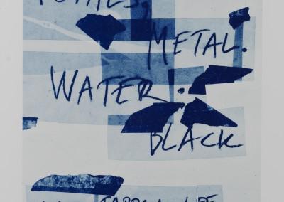 Petals, Metal. Water: Black. Artist's book. Plate (1)